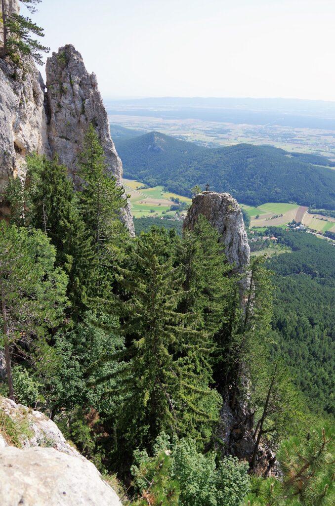Via ferrata Gebirgsverains klettersteig na Hohe Wand w Austrii