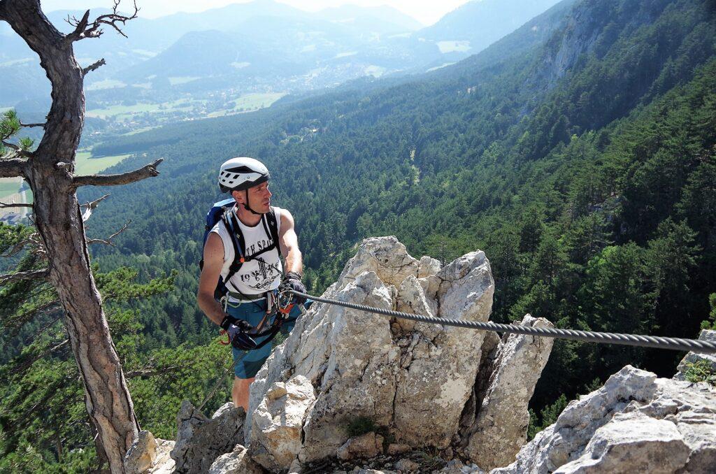 Via ferrata Gebirgsvereins klettersteig na Hohe Wand w Austrii