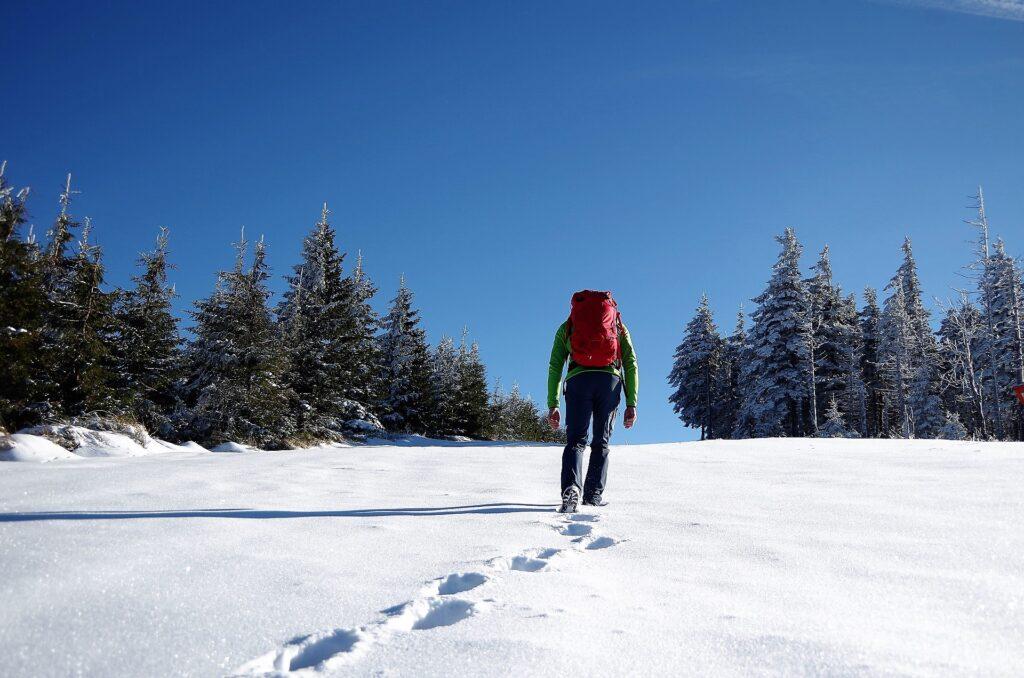 Zimowe wejście na Skrzyczne