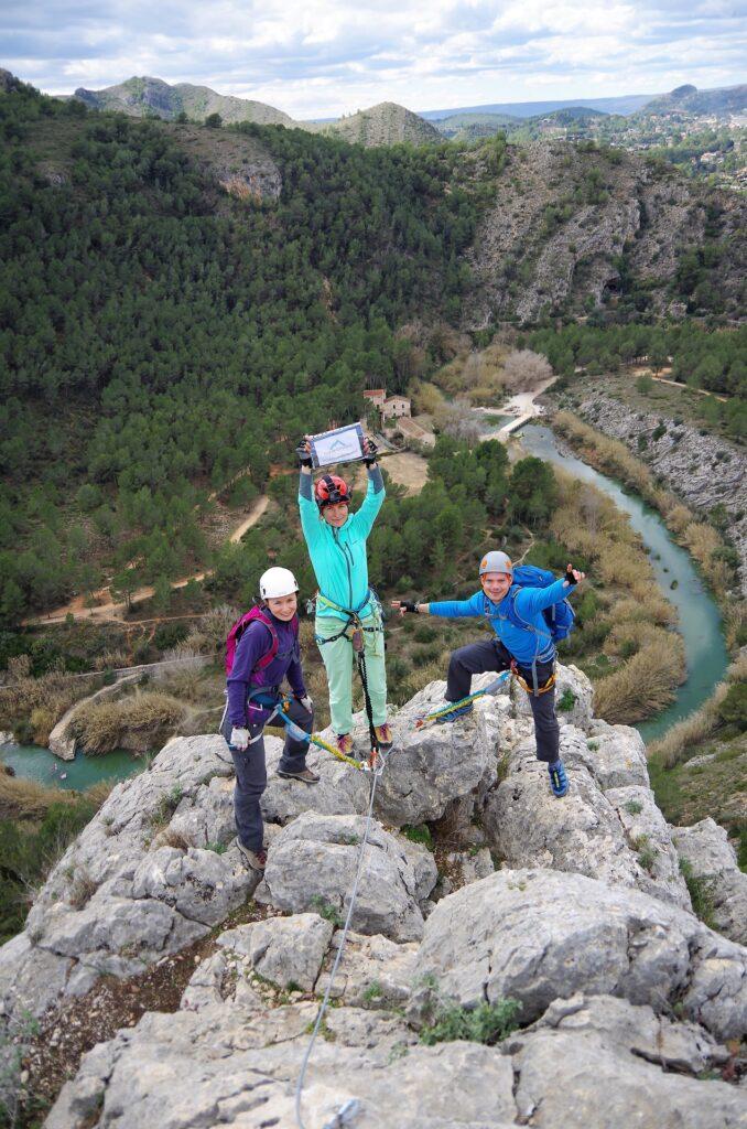 Ekipa obozu na szczycie L'Aventador, Costa Blanca - pięne widoki