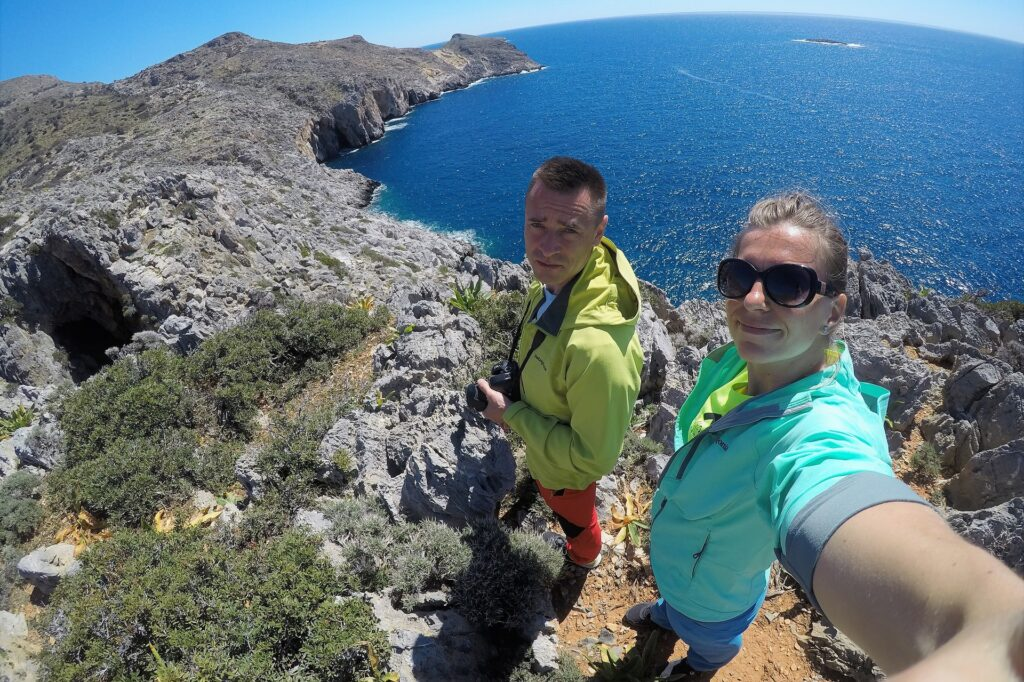 Wąwóz Agiofaragio na klifie