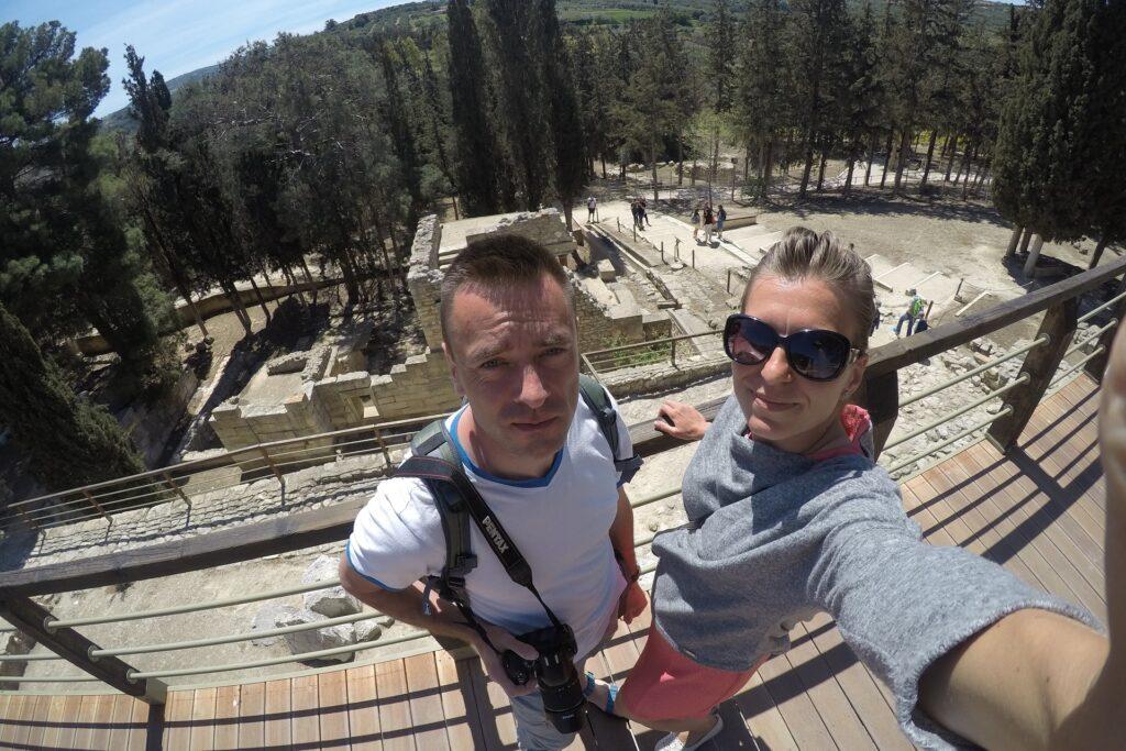 Wizyta na zamku Knossos