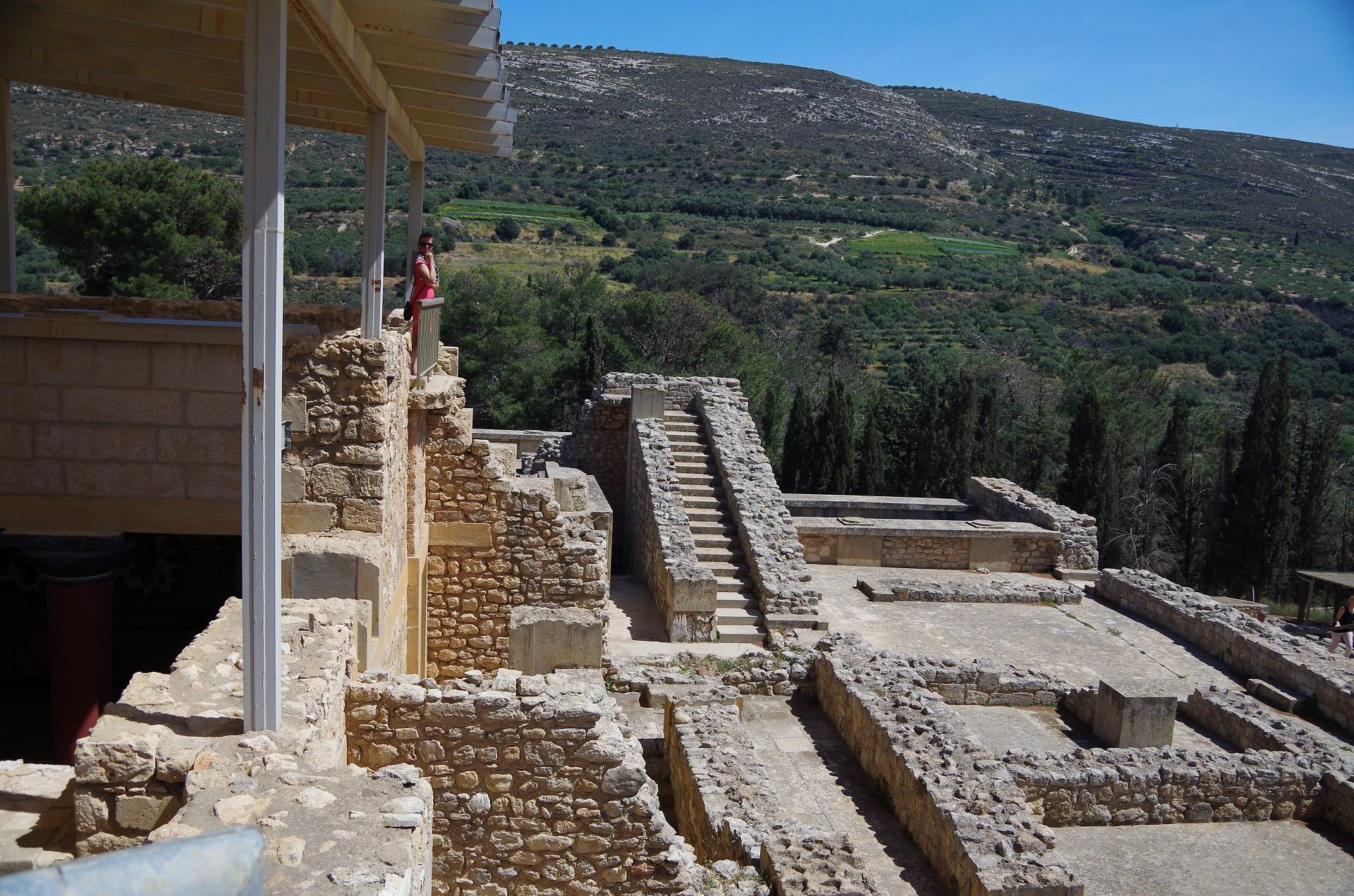 labirynty w zamku Knossos