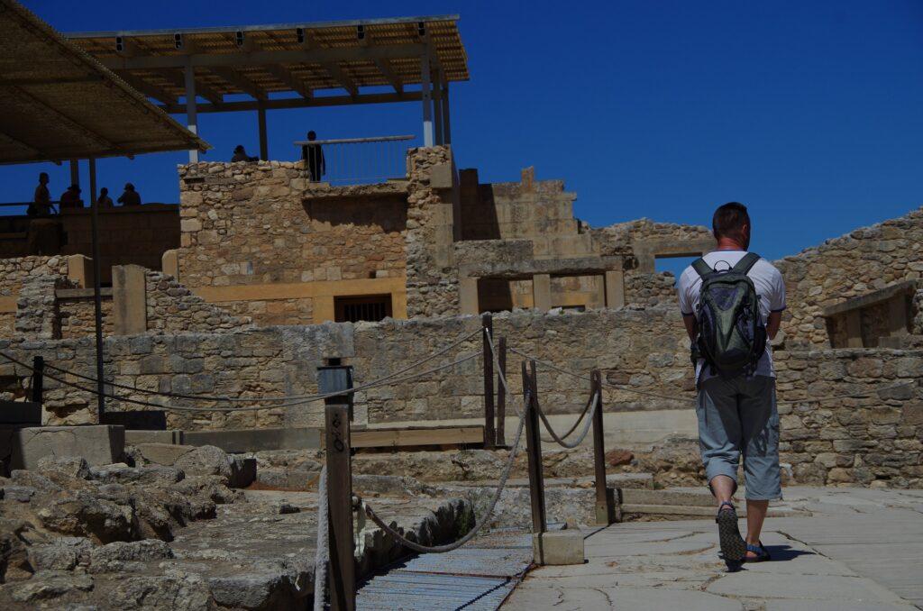 ściany pałacu Knossos