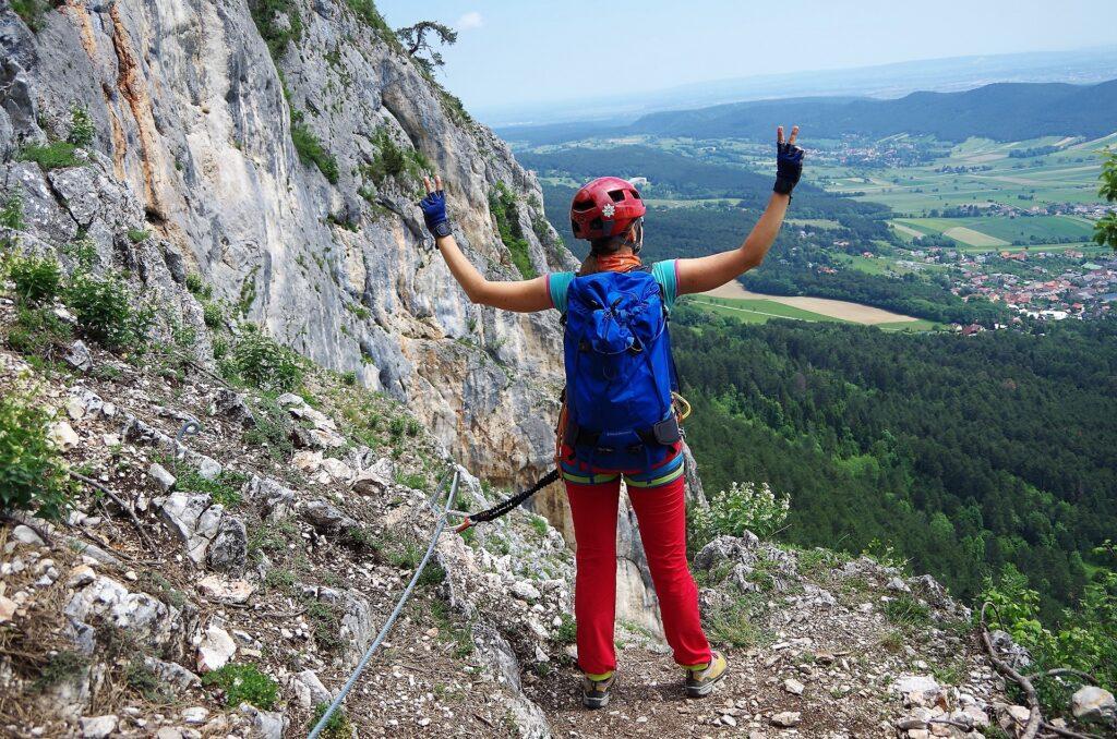 Widoki przed ostatnim fragmentem via ferraty OTK Klettersteig