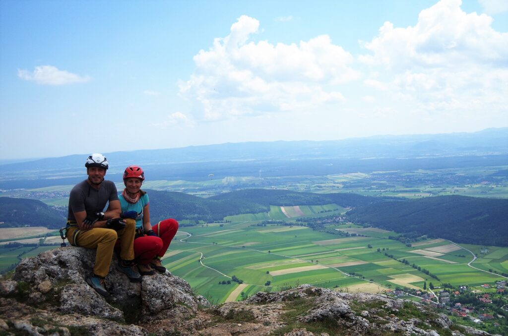 Na szczycie, po skończonej ferracie OTK Klettersteig