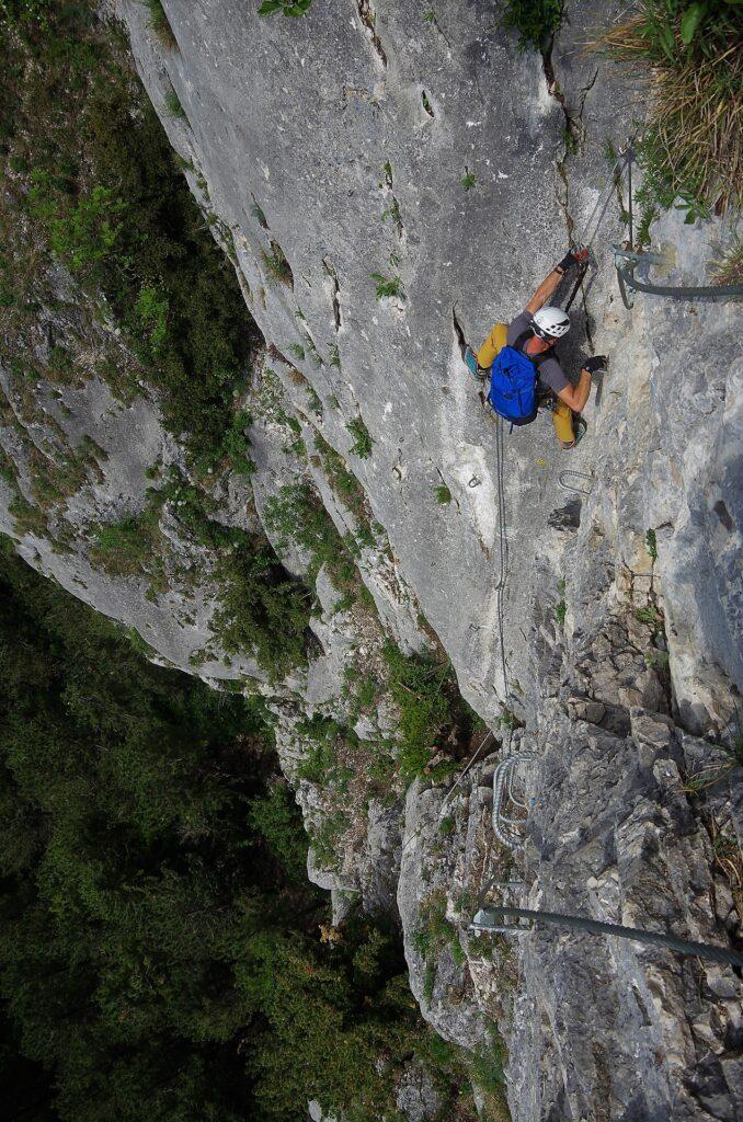 Wariant lewy za D OTK Klettersteig