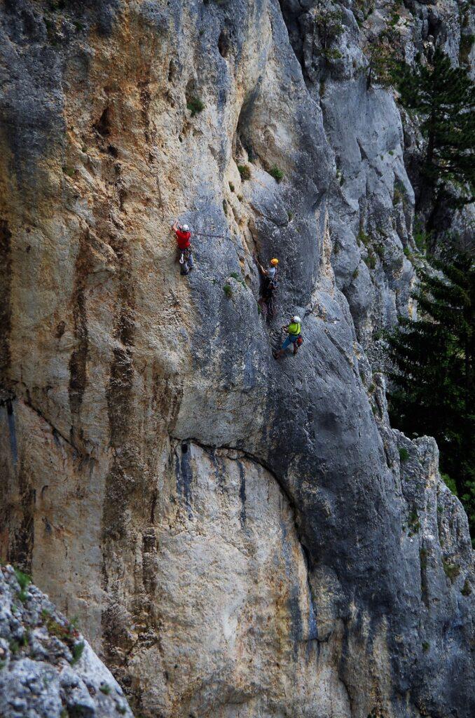 Wspinacze na ścianie Hohe Wand