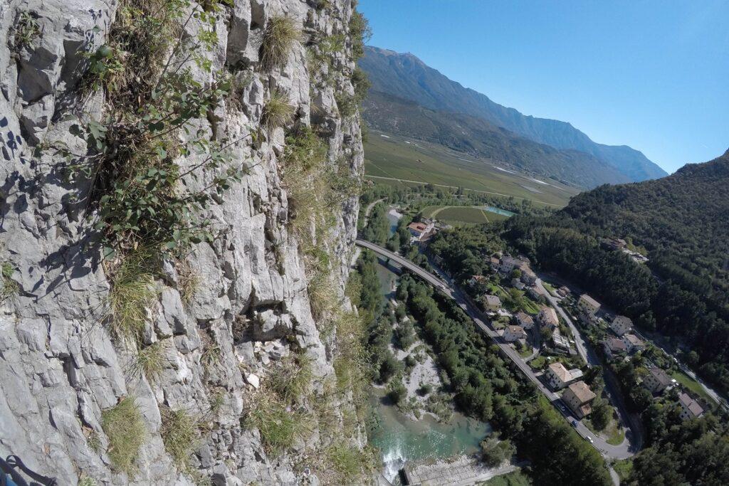 Wspinanie w ścianie Piccolo Dain, Sarche, Włochy