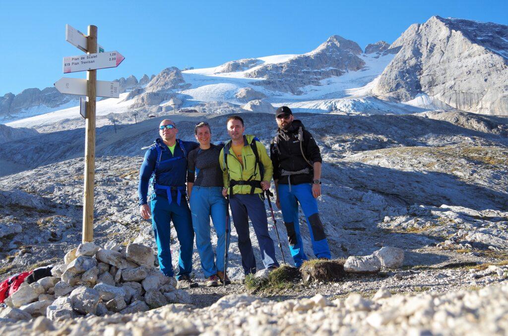 Pamiątkowe zdjęcie na przełęczy Forcella Col del Bous 2438 m