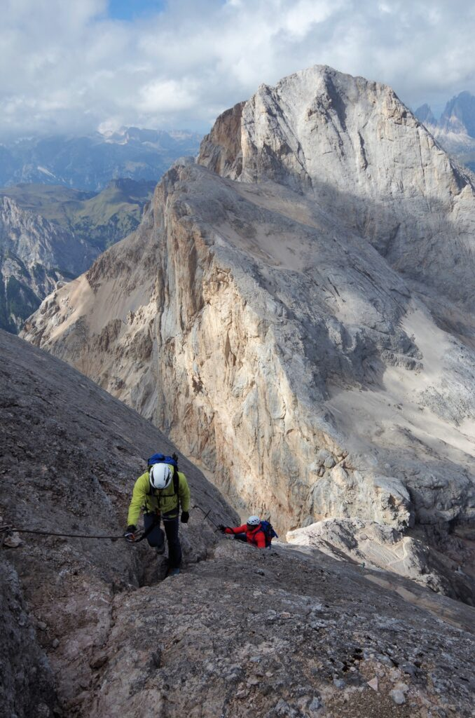 Wspinaczka Via Ferratą della Marmolada
