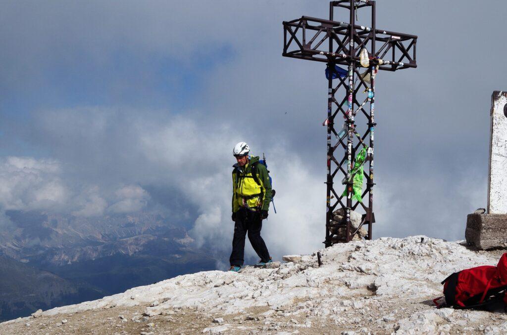 Darek na szczycie Punta Penia 3343 m