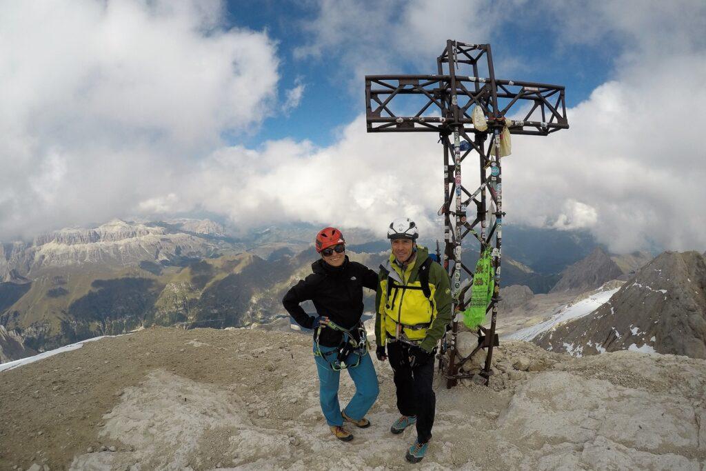 My na szczycie Punta Penia 3343 m