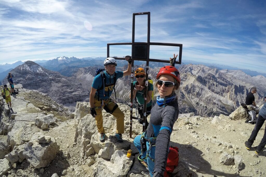 Na szczycie Tofana di Mezzo 3244 m.