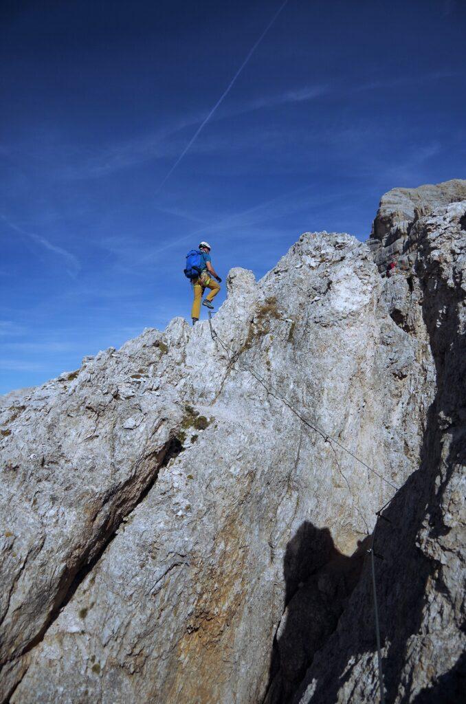 Wyjście na szczyt Punta Anna ferratą Giuseppe di Olivieri