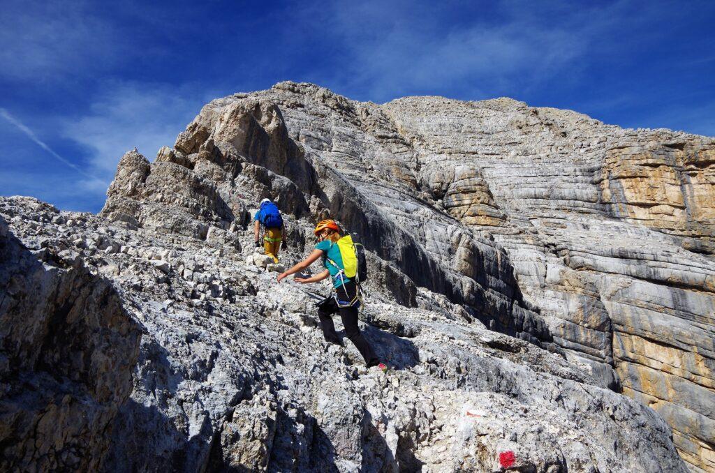 Kopuła szczytowa Tofany di Mezzo zapewnia dodatkowe, wspinaczkowe doznania