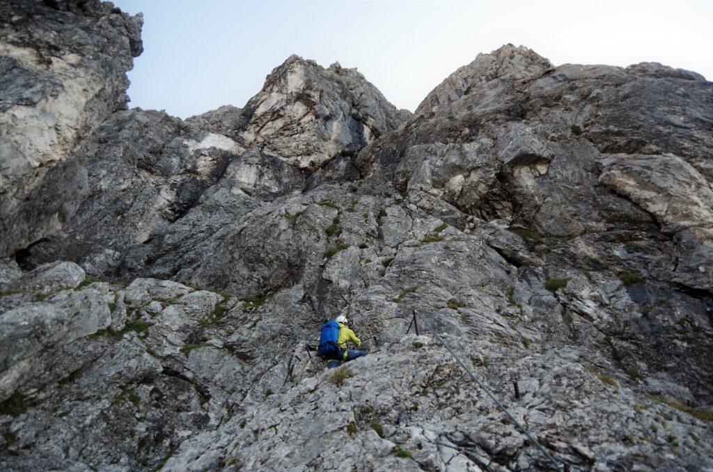 Darek na ferratcie Anna Klettersteig na Dachstein