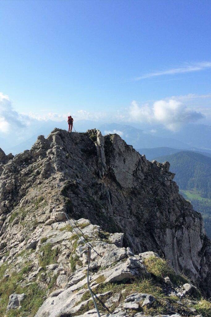 Grań tuż przed wierzchołkiem Mitterstein, Dachstein