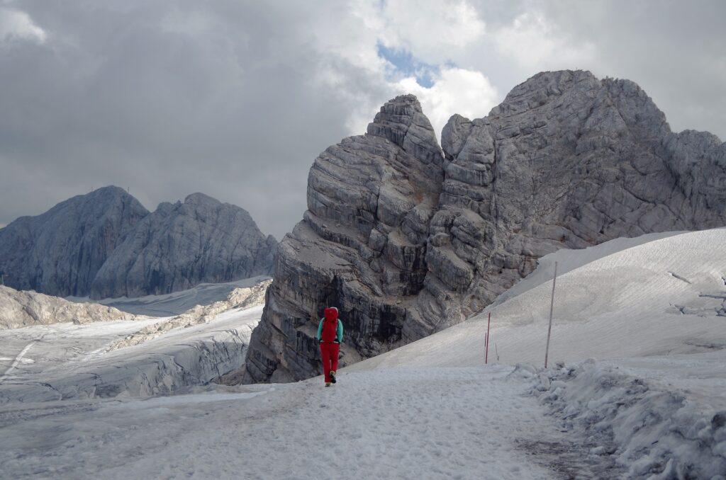 Zejście z ferraty Johann lodowcem