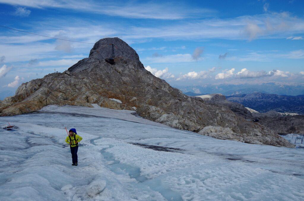 Zejście z ferraty Johann lodowcem Dachstein