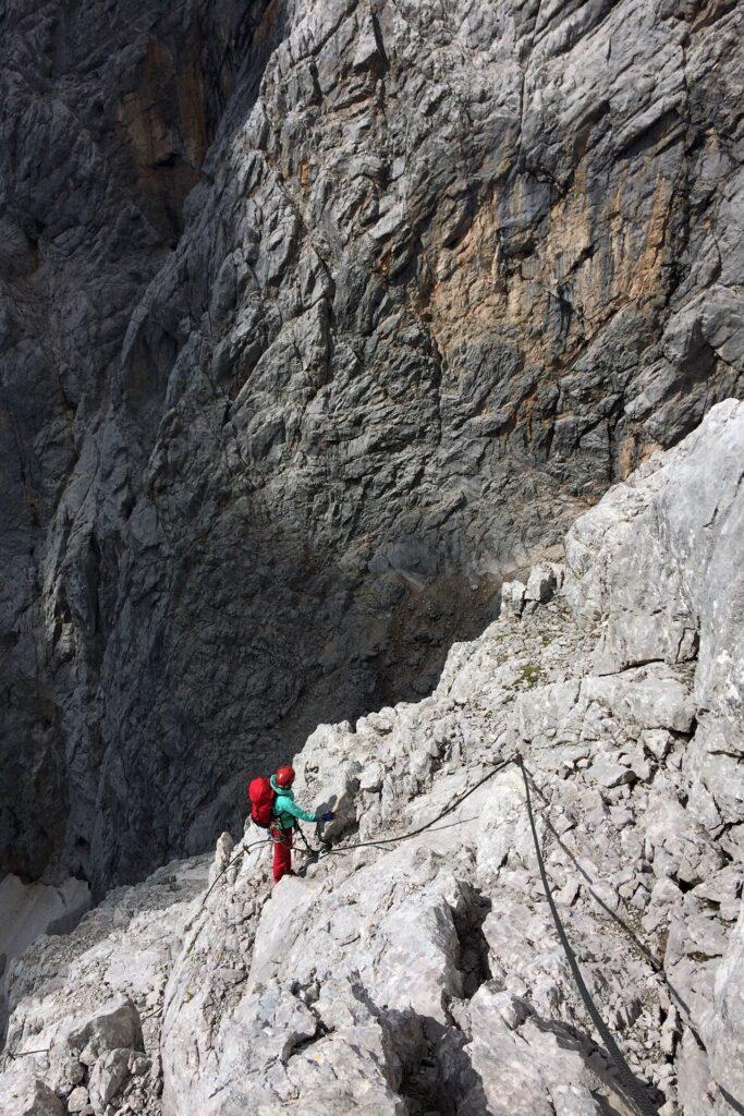 Pola na ferracie Johann, Dachstein - część trzecia ferraty