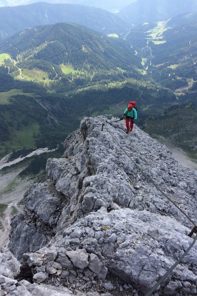 Malownicza ferrata Johann, Dachstein - część trzecia ferraty