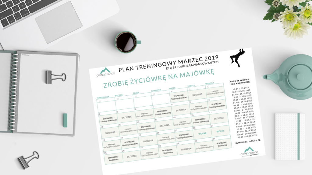 Plan treningowy dla średnio zaawansowanych na miesiąc marzec 2019