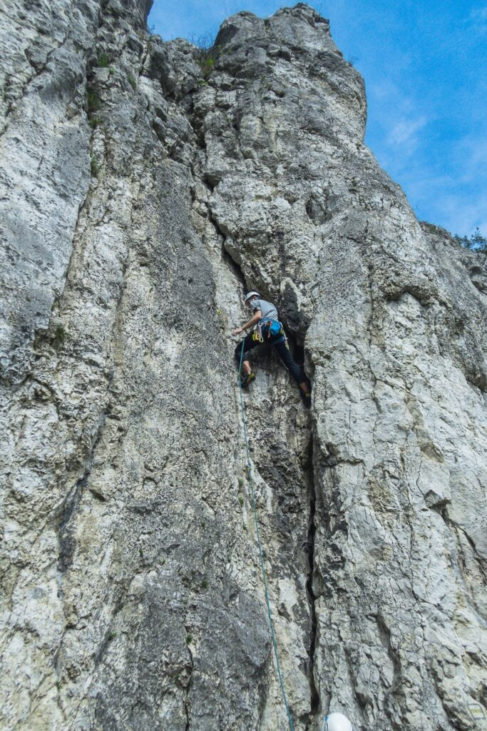 Wspinaczka na Filarze Abazego - Rysa Wallischa, V-