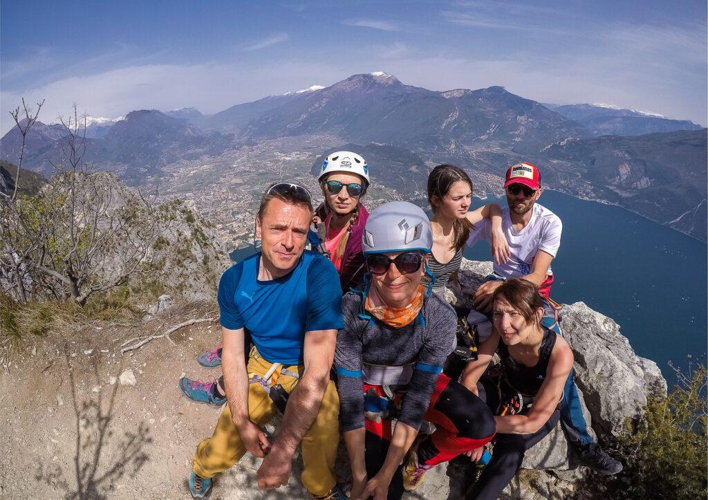 Ze szczytu Cima Capi widać Rivę del Garda i Torbole
