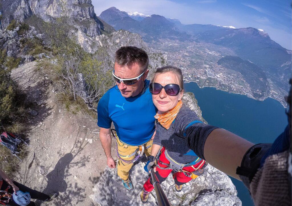 Ferrata Fausto Susatti kończy się na szczycie Cima Capi