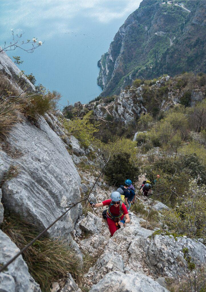 Ferrata Cima Capi wiedzie grzbietem góry