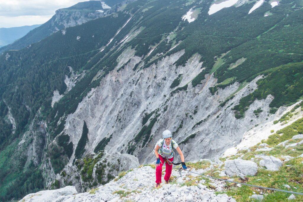 Wyjście Königschusswand-Steig
