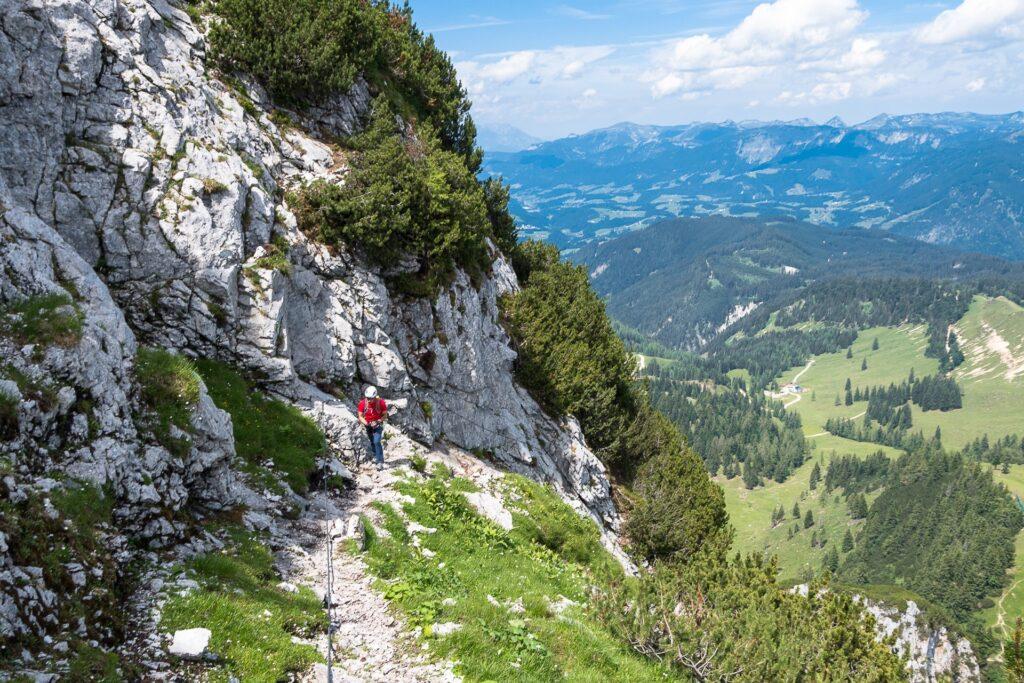 Druga część ferraty Intersport to w większości monotonny szlak wznoszący się w górę