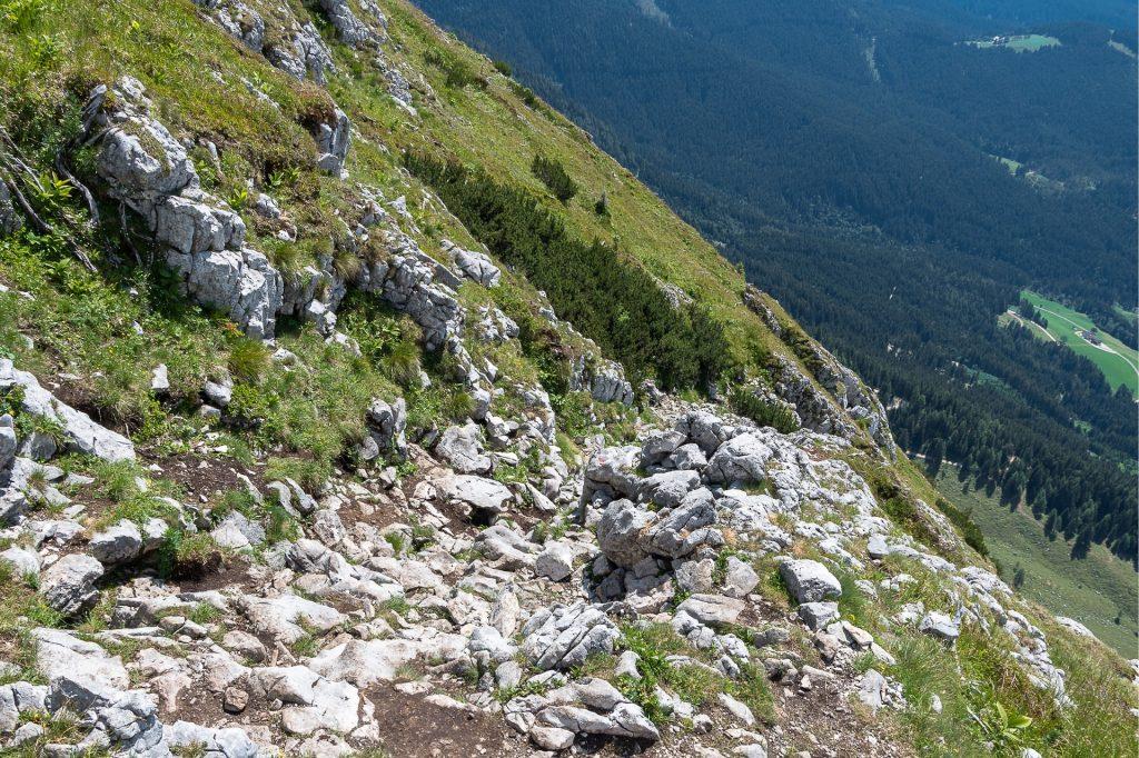 Ścieżka zejściowa z ferraty Intersport Klettersteig
