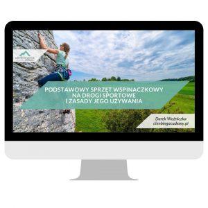 Sprzęt wspinaczkowy na drogi sportowe i zasady jego używania - szkolenie online