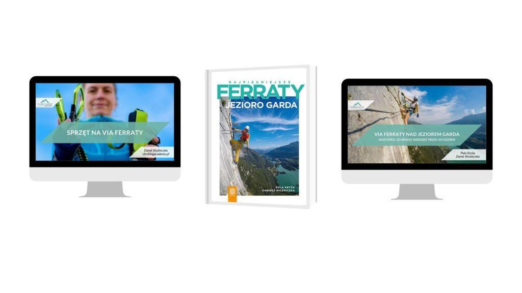 Zestaw: Przewodnik Ferraty Garda + szkolenie online sprzęt na ferraty + webinar Ferraty nad jeziorem garda