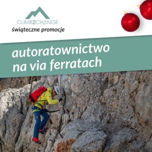 Szkolenie autoratownictwo na via ferratach, śnieg promocji w #climb2change