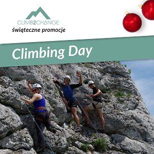 Dzień wspinaczki na Jurze Krakowskiej, śnieg promocji w #climb2change