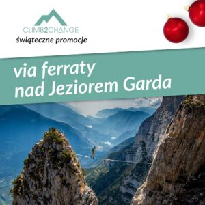 Szkolenie ferraty nad jeziorem Garda, śnieg promocji w #climb2change