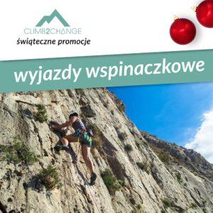 Kurs wspinaczki za granicą, śnieg promocji w #climb2change
